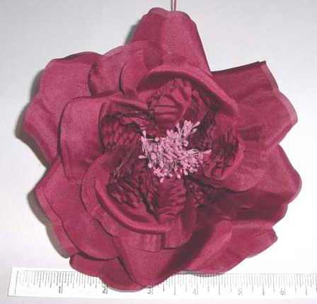 Large Flat Silk Rose For Dress Manufacturer That Way Hat New