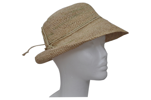 f2564078913 Foldable Natural Round Crocheted Raffia Straw Hat   That Way Hat ...