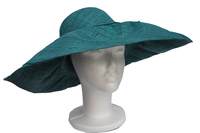Teal Green Raffia Flexible Sun Hat