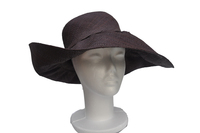 Brown Raffia Wide Brim Hat