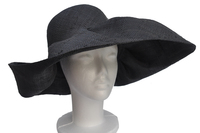 XXL Eclipse Black Madagascar Womens Sun Hat Wide Brim
