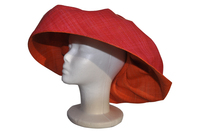 Red and Orange Raffia Sun Hat