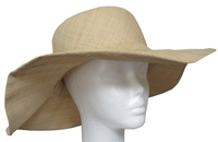 Flat Brim Soft Raffia Natural Color Sun Hat