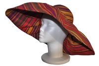 Purple, Green, Yellow, Red Stripes Wide Hat