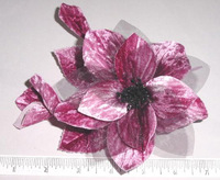 Velvet & Organdy Blossoms 2 Buds Hat Trim