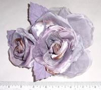 Large Artificial Brocade Rose & Bud for Bridal - Multiple Colors