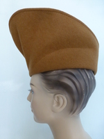 Vintage 1940's French Tan Felt Hat - Movie Star like