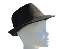 Dark Brown Wool Fedora - Simple Band