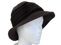 Brown Velvet Flapper Hat