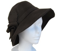Brown Leaf Winged Hat