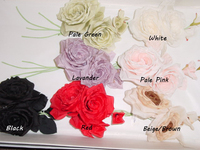 Silk Rose By 2 With 2 Buds Hat Trim