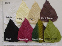 Triangular Velvet Leaves - Multiple Colors