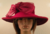 Wine Red Hat With Large Bow