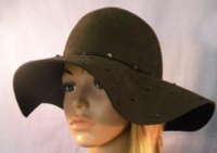 Dark Brown Hat by Jessica Simpson