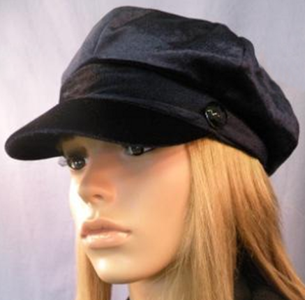 August Accessories Black Conductor Hat That Way Hat New