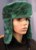 Green Fur Trapper / Trooper / Bomber Hat by M Style Lab