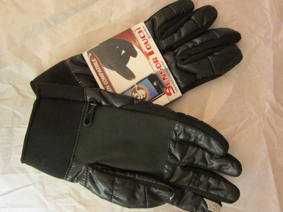 7fe0fc961 Mens Shiny Black Touch Screen Gloves