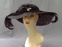 Crystal Brooch On Black Kentucky Derby Hat 224