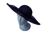 Dark Blue Sinamay Hat