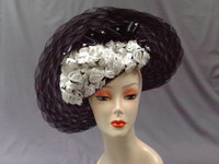 Black Onyx Horsehair Derby Hat 477