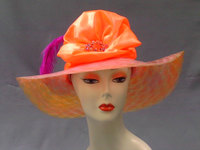 Coral Horsehair Kentucky Derby Hat 720