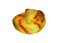 Sunshiny Hat - Orange, Yellow, Green, Neutral Stripes