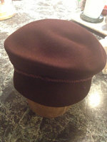 1980's Women's Brown Felt hat
