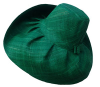 Emerald Green Madagascar Raffia Sun Hat