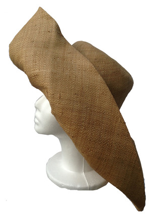 Beige - Tobacco - Raffia Wide Brim Sun Hat   That Way Hat. New 2322ea0b909