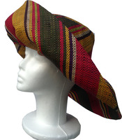 "Multicolor ""Red Jungle"" Madagascar Hat - Large Head"