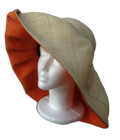 Natural and Bright Orange Sun Hat