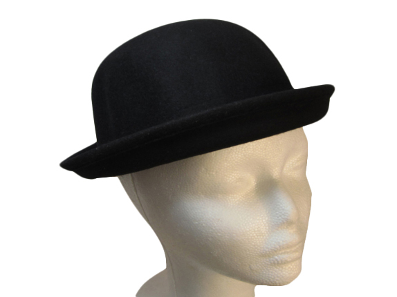 Black Wool Bowler Hat   That Way Hat. New bd305c54006