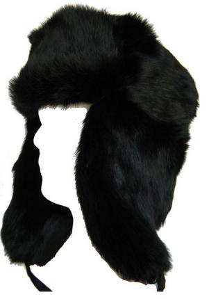 c82ee91c2e9 Black Real Fur Russian Aviator - Bomber- Trapper Hat by Klondike Sterling