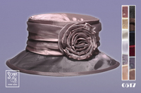 Rose- elegant organza hat with a big rose