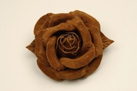 "4"" Real Suede Rose"