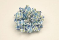 Cotton Plaid Gardenia with Pep Center