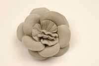 Hat Felt Flower with Soft Pleat Center