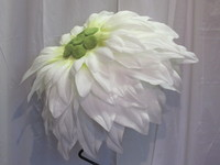 White flower fascinator