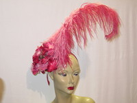 pink and Red Fascinator