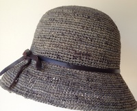 Goorin Jacqueline Grey Knotted Straw Hat - Large