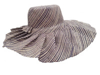 Extra Large Brown Madagascar Hat with Folds