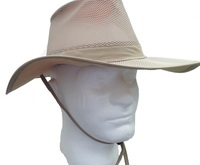 No Fly Zone by Stetson Insect Shield Nylon Mesh Safari with Chin Cord Hat