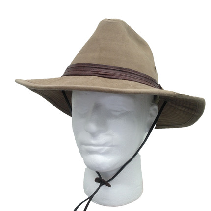 c4461810a8956 Stetson Cloth Men s Safari Twill Hat- Bronze   That Way Hat. New ...