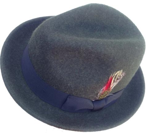 bd4bf3eea7a Avocado Green Fedora with Feather - Soft Wool Felt   That Way Hat ...