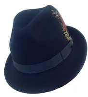 Black Fedora with Fold Crease Crown