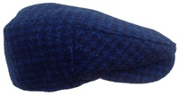 Brooklyn Blue and Black- 100% Harris Tweed Newsboy Cap
