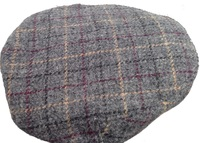 Grey Plaid Gatsby Cap- Made in USA using Scottish Tweed