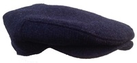Navy Blue Tweed Golf Cap - Made in USA