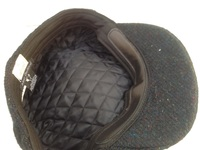 Black 100% Scottish Wool Flat Cap- Made from Hand Loomed Harris Tweed
