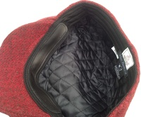 Red & Black 100% Scottish Wool Flat Cap